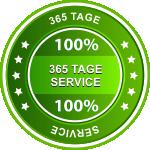Wir bieten 365 Tage Service im Jahr