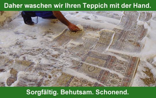 Bio-Teppichwäsche von Hand