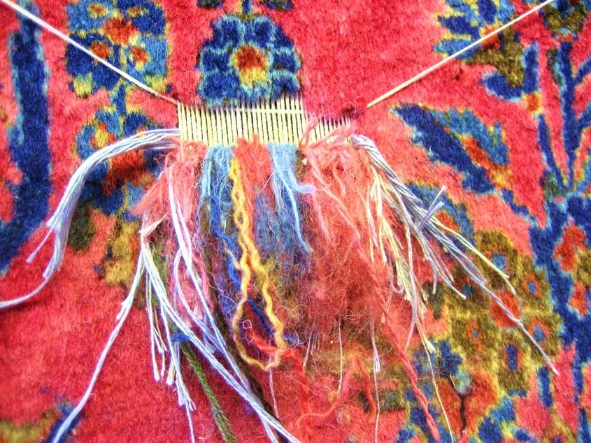 Teppich knüpfen  Teppichreparatur von der Teppichwäscherei A&F Frankfurt ...