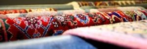 Kräftige Teppichfarben