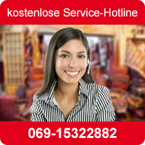 Nutzen Sie die kostenlose Service-Hotline der A&F Orient-Teppich-Service GmbH